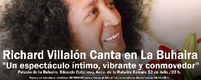 Concierto: Richard Villalón en las Noches de la Buhaira Sevilla