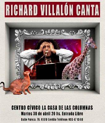 Cartel del concierto Richard Villalón canta, abril 2019