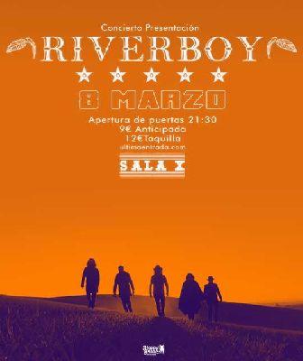Cartel del concierto de Riverboy en la Sala X de Sevilla