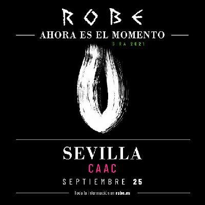 Cartel del concierto de Robe Iniesta en el CAAC de Sevilla 2021