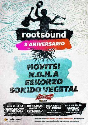 Concierto: X Aniversario Rootsound en Custom Sevilla