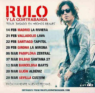 Cartel de la gira Basado en hechos reales de Rulo y la Contrabanda