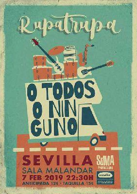 Cartel del concierto de Rupatrupa en Malandar Sevilla 2019