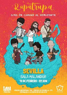Cartel del concierto de Rupatrupa en Malandar Sevilla 2020