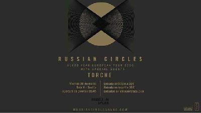 Cartel del concierto de Russian Circles y Torche en la Sala X de Sevilla 2020
