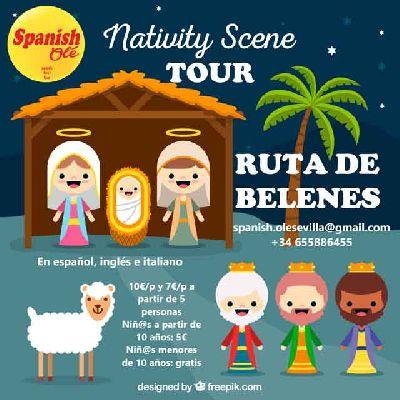 Cartel de la ruta por belenes de Spanish Olé en Sevilla 2019