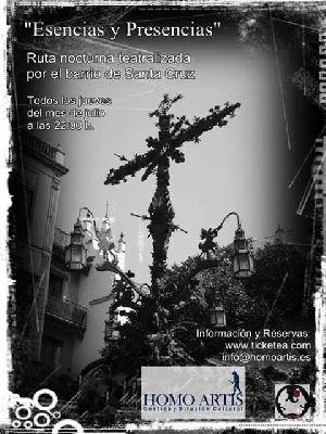 Rutas nocturnas por el barrio de Santa Cruz de Sevilla