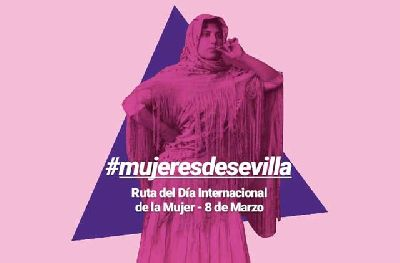 Cartel de la ruta Mujeres de Sevilla por Artèpolis