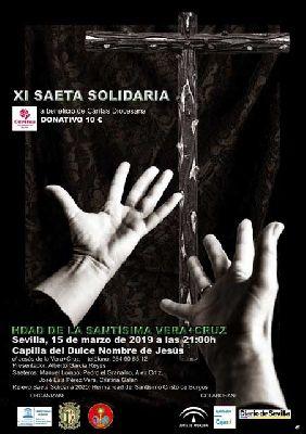 Cartel de la XI Saeta Solidaria de Sevilla 2019 a beneficio de Cáritas