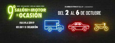 Cartel de la novena edición del Salón del Motor de Ocasión de Sevilla 2019 en Fibes Sevilla