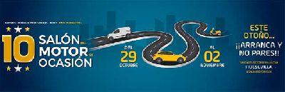 Cartel de la décima edición del Salón del Motor de Ocasión de Sevilla 2020 en Fibes Sevilla