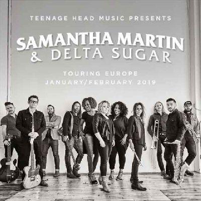 Cartel del concierto de Samantha Martin y Delta Sugar en la Sala X de Sevilla