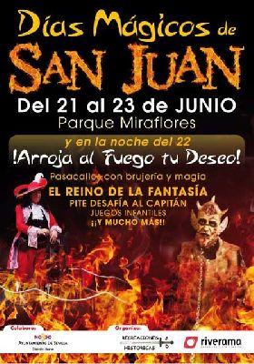 Días Mágicos de San Juan en el parque de Miraflores de Sevilla