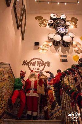 Santa Claus en el Hard Rock Café de Sevilla 2018