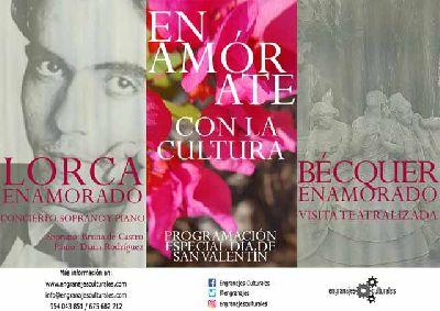 Cartel del concierto y la ruta por San Valentín en Sevilla 2020