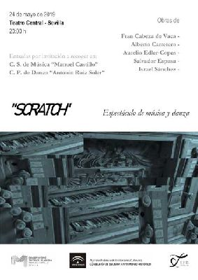 Cartel del espectáculo Scratch en el Teatro Central de Sevilla 2019
