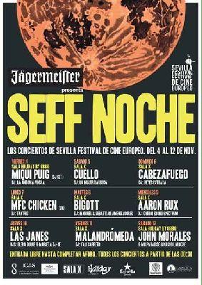 Conciertos SEFF Noche 2016 del Festival Cine Europeo de Sevilla