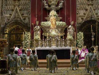 Seises en la Catedral de Sevilla durante la Inmaculada