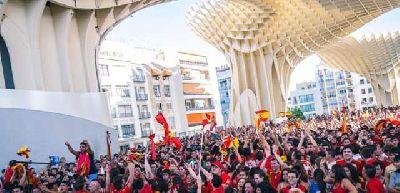 España - Chile en pantalla grande en Sevilla