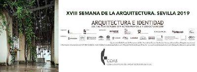 Cartel de la XVIII Semana de la Arquitectura 2019 de Sevilla