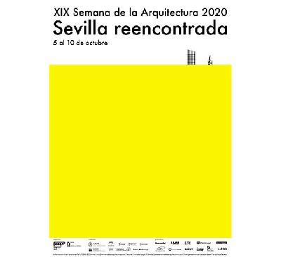 Cartel de la XIX Semana de la Arquitectura 2020 de Sevilla