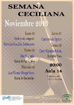 Semana Musical Ceciliana 2013 en el Conservatorio Manuel Castillo
