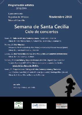 Semana Musical de Santa Cecilia 2018 en el CSM Manuel Castillo Sevilla