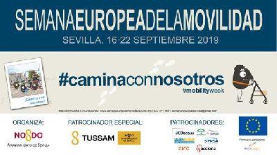 Cartel de la Semana Europea de la Movilidad 2019 en Sevilla