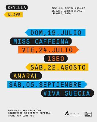 Cartel del ciclo Sevilla Alive en el CAAC de Sevilla 2020