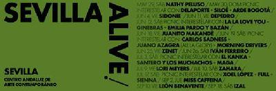 Cartel del ciclo Sevilla Alive en el CAAC de Sevilla 2021