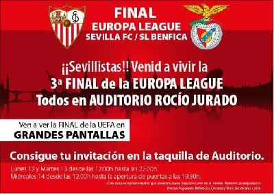 Sevilla - Benfica en pantalla grande en Sevilla