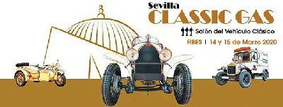 Cartel del III Salón del Vehículo Clásico, Sevilla Classic Gas 2020 en Fibes Sevilla