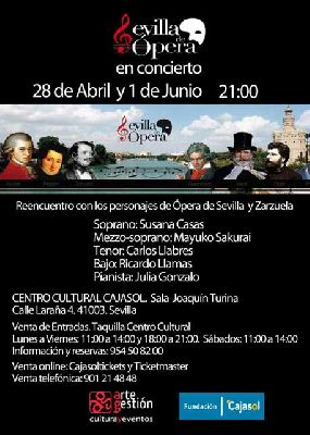 Concierto: Sevilla de Ópera en Sala Joaquín Turina de Sevilla