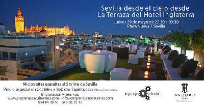 Sevilla desde el cielo en el Hotel Inglaterra