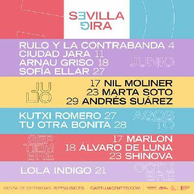 Cartel del ciclo Sevilla Gira en el Cartuja Center de Sevilla 2021