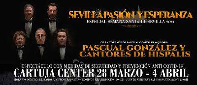 Cartel de Sevilla, Pasión y Esperanza de Pascual González y Cantores de Híspalis