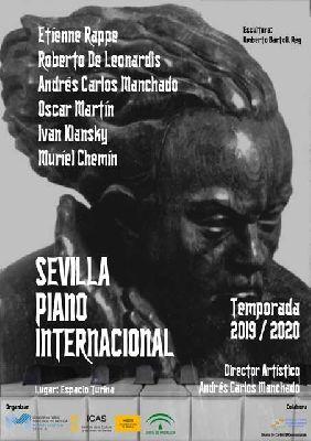 Cartel del ciclo Sevilla Piano Internacional 2019-2020