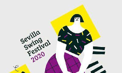 Cartel de la octava edición del Festival Sevilla Swing! 2020
