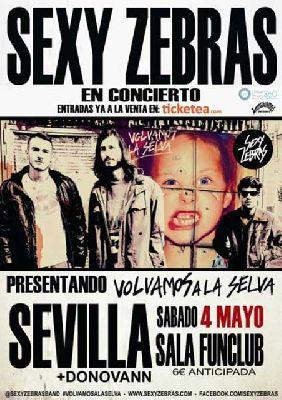 Concierto: Sexy Zebras en FunClub Sevilla