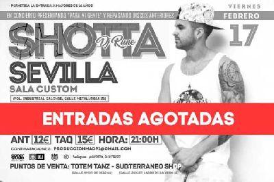 Concierto: Shotta presenta Para mi gente en Custom Sevilla