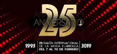 Cartel de la XXV edición del Salón Internacional de la Moda Flamenca de Sevilla SIMOF