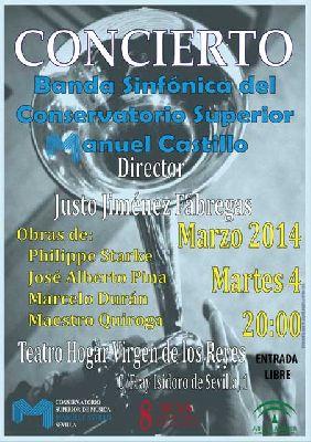 Concierto: Banda Sinfónica del CSM Manuel Castillo (marzo 2014)