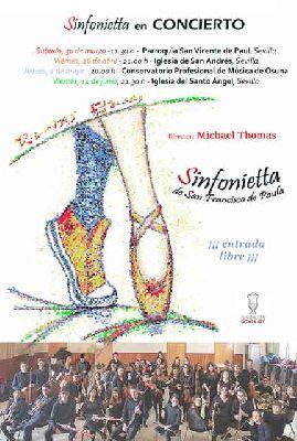 Cartel del concierto Danzas Eternas por la Sinfonietta San Francisco de Paula de Sevilla 2019