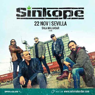 Cartel del concierto de Sínkope en Malandar Sevilla 2019