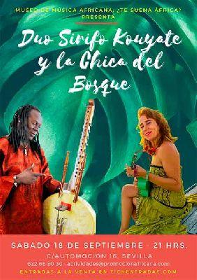 Cartel del concierto Abarika con Sirifo Kouyate y la Chica del Bosque
