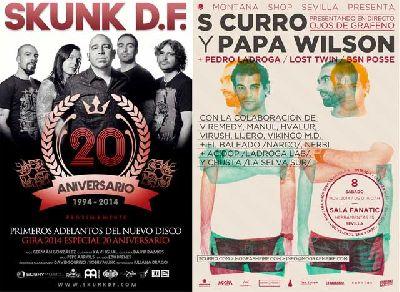 Conciertos: Skunk D.F. S Curro y Papa Wilson en Fanatic Sevilla
