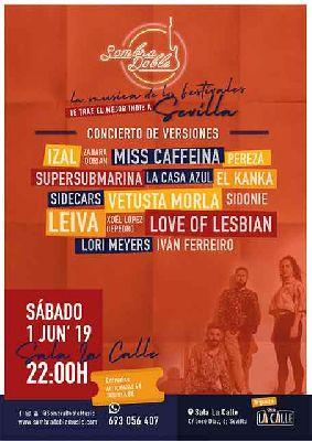 Cartel del concierto de Sombra Doble en sala La Calle Sevilla 2019