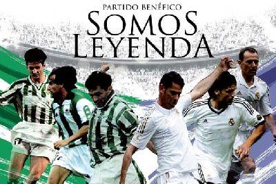 Somos leyenda partido benéfico con exjugadores de Betis y Madrid