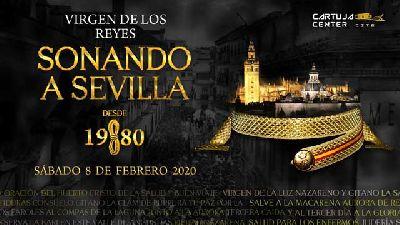 Cartel de Sonando a Sevilla desde 1980 en el Cartuja Center de Sevilla 2020