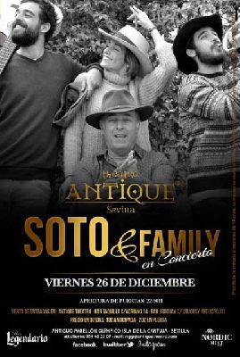 Concierto: Soto & Family en Antique Sevilla